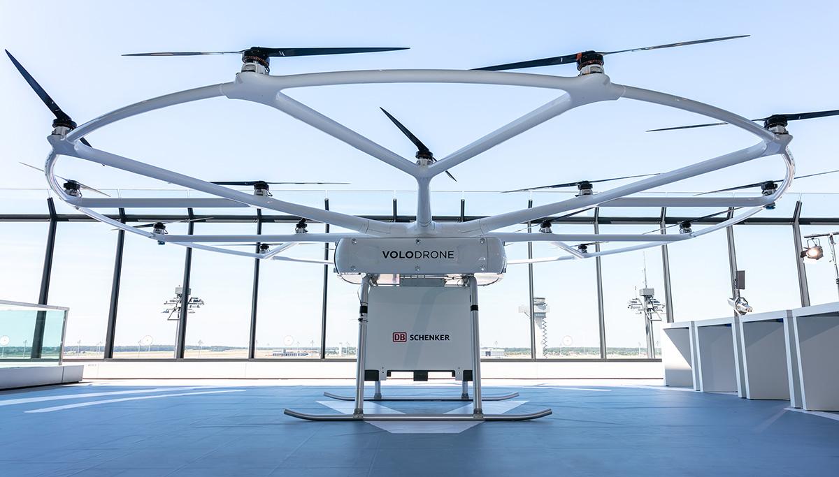 Innovatieve vrachtdrone VoloDrone voor het eerst naar Berlijn