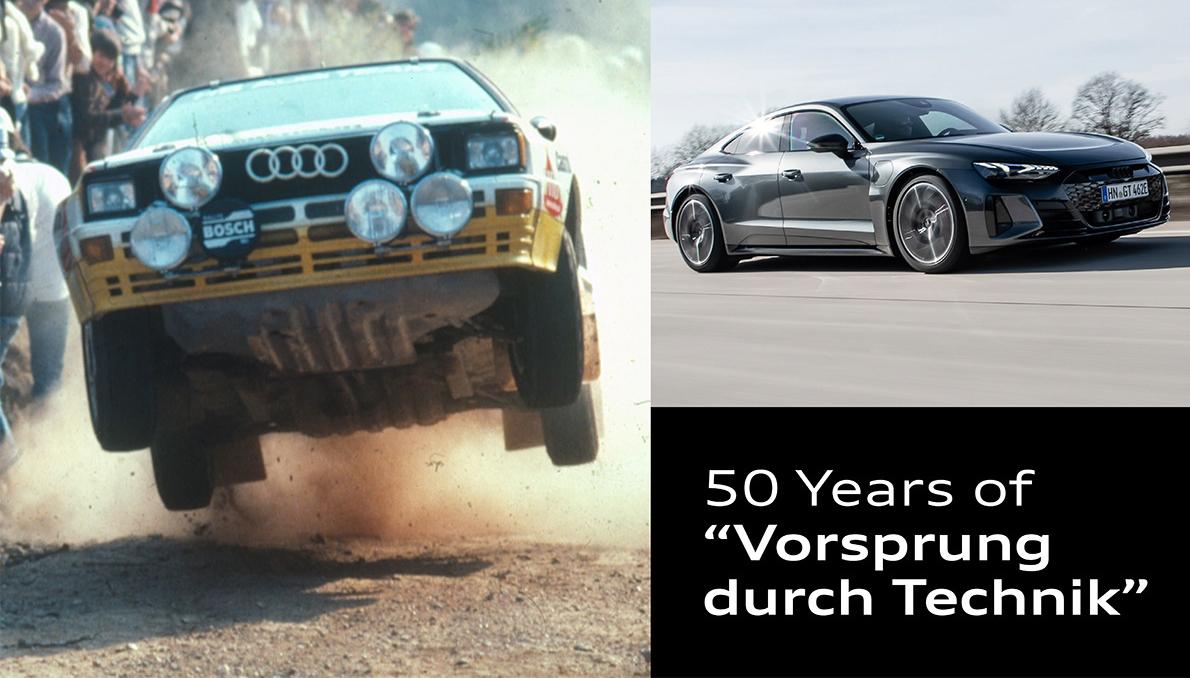 Audi's merkslogan 'Voorsprong door Techniek' wordt 50