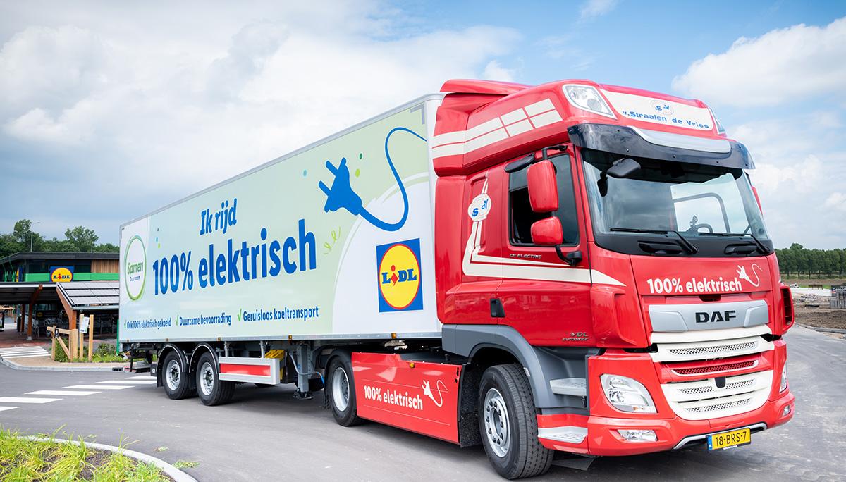 DAF CF Electric voor de eerste CO2- en energieneutrale supermarkt van Lidl