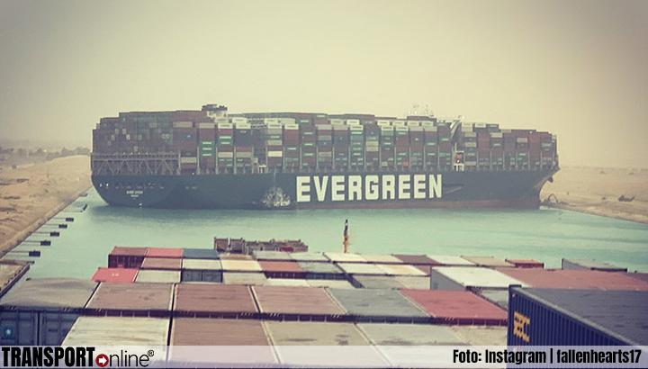 Ever Given veilig door het Suezkanaal gevaren richting Rotterdam