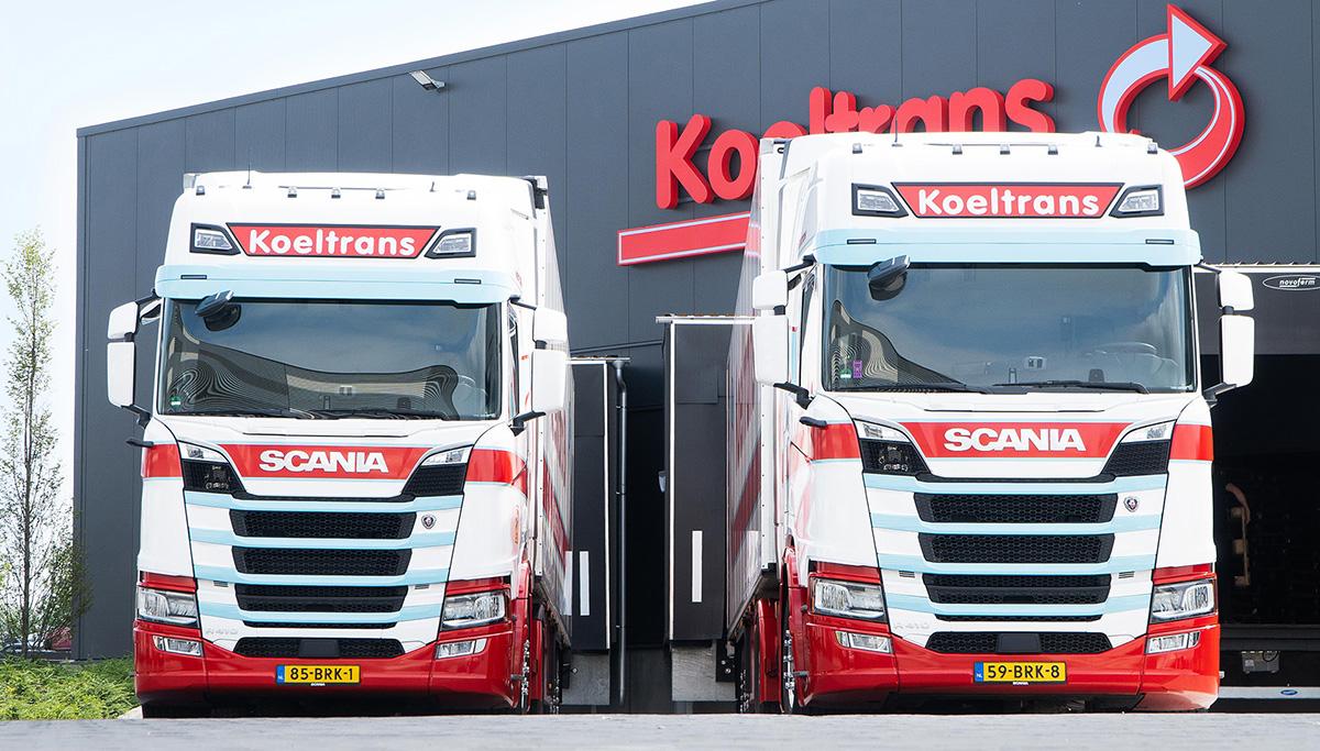 Wagenpark Koeltrans groeit met twintig nieuwe Scania LNG-trekkers