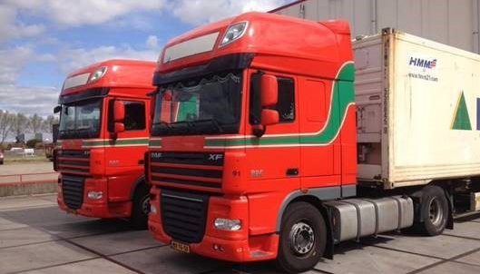 Gestolen trekker en containerchassis Müller Fresh Food Logistics teruggevonden [+foto's]
