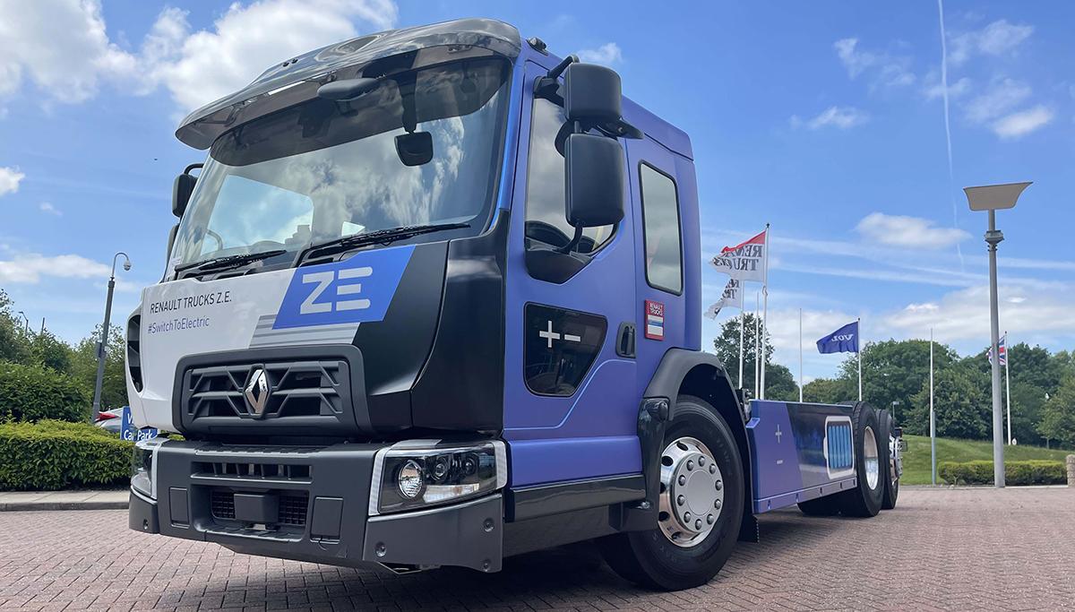 Renault onthult nieuwe volledig elektrische truck voor in de stad de lage-cabine D Wide ZE LEC