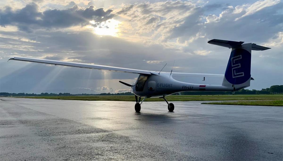 Nederlandse startup E-Flight Academy maakt eerste elektrische vlucht naar het buitenland [+video]
