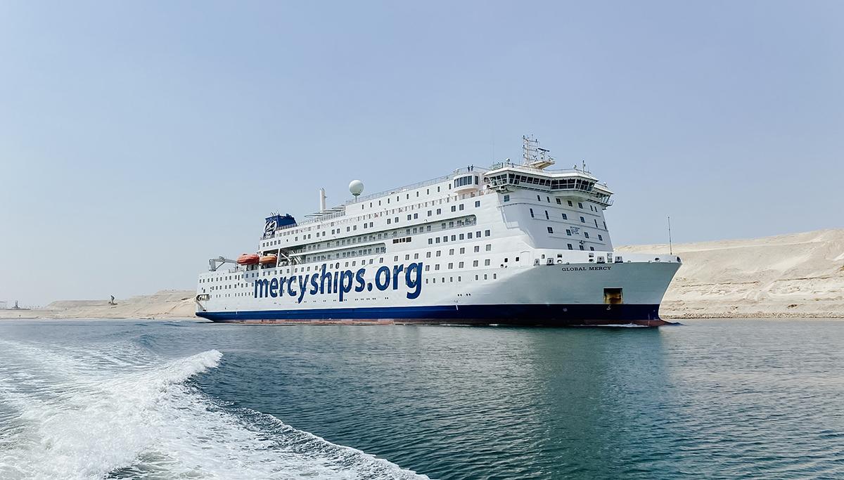 Grootste particuliere ziekenhuisschip ter wereld, de Global Mercy, bijna in Antwerpen