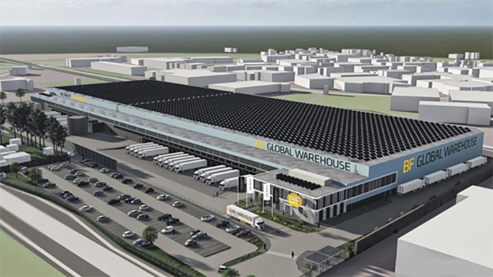 38.000 m2 nieuwbouw voor BF Global Warehouse B.V. in Venlo