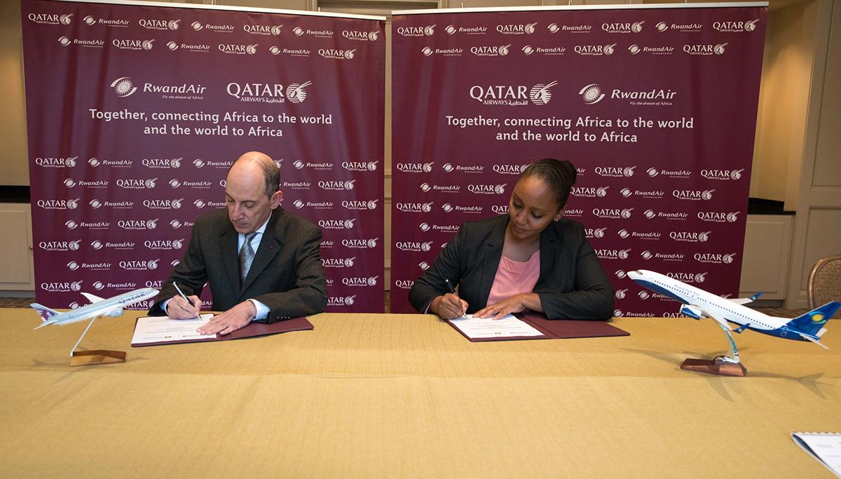 Qatar Airways en RwandAir tekenen belangrijke codeshare-overeenkomst