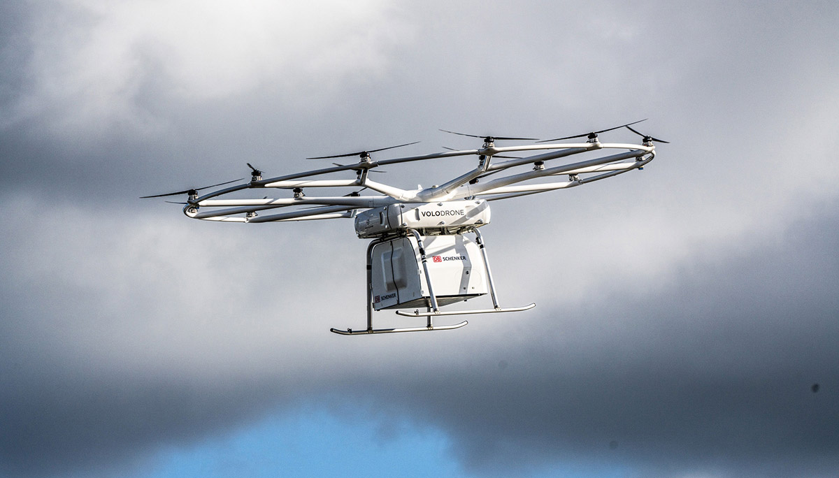 Succesvolle eerste openbare vlucht van Volocopter's VoloDrone