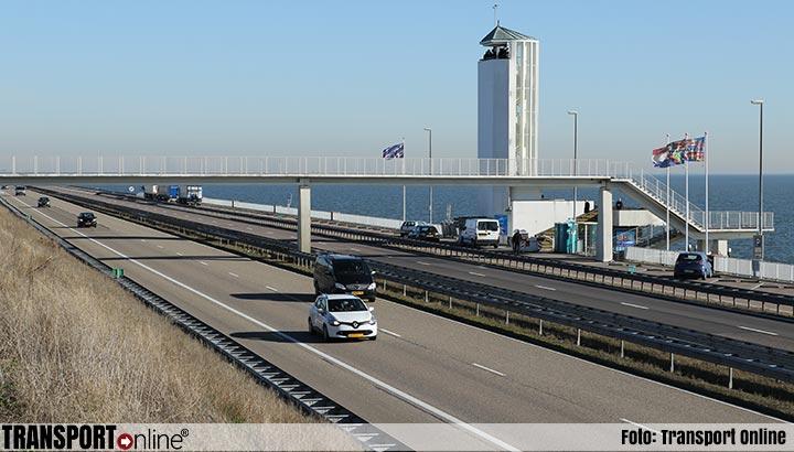 Afsluitdijk richting Friesland afgesloten voor werkzaamheden