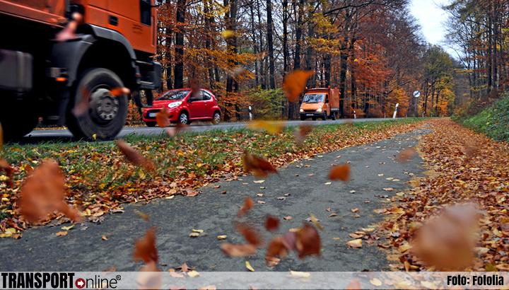 ADAC Truckservice waarschuwt: herfstbladeren zijn als ijzel