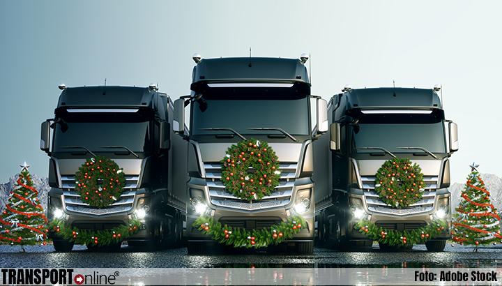 FNV en TLN: Kabinet, zorg dat onze vrachtwagenchauffeurs thuis kerst kunnen vieren
