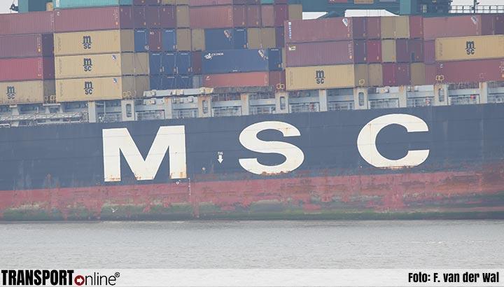 MSC Rifaya, eerste gestremde containerschip uit Suezkanaal, arriveert dinsdagavond in Rotterdam