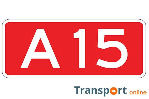 Ongeval met meerdere vrachtwagens op A15
