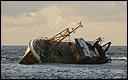 Engels schip de 'Kestrel' in de problemen op de Noordzee